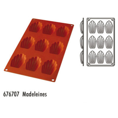 Forma pentru copt din silicon GN1/3-tipul madeleines