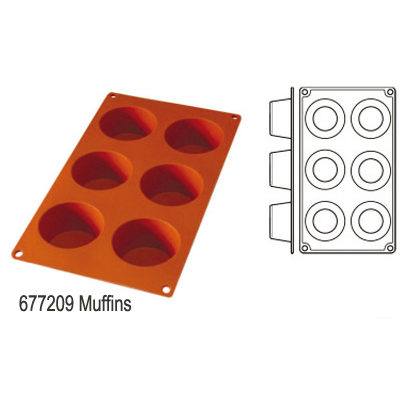 Forma pentru copt din silicon GN1/3-tipul muffins