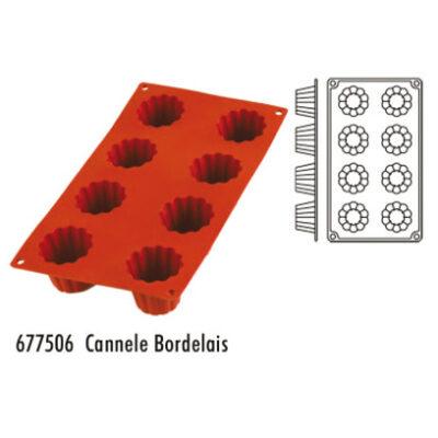 Forma pentru copt din silicon GN1/3-tipul cannele bordelais