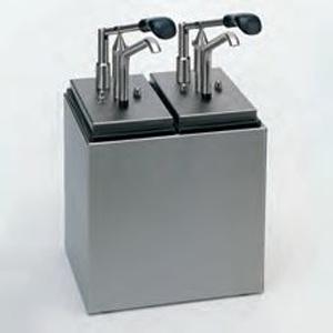 Dozator din inox cu recipiente din plastic, 4x 2.5 litri