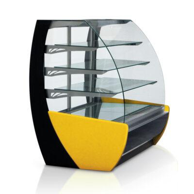 Vitrina frigorifica pentru cofetarie/patiserie KAMELEO, fara laterale, 1325mm