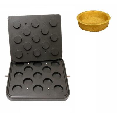 Placa aparat tarte, 13 forme rotunde 60mm