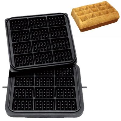 Placa aparat tarte, 12 forme waffle 98x65mm