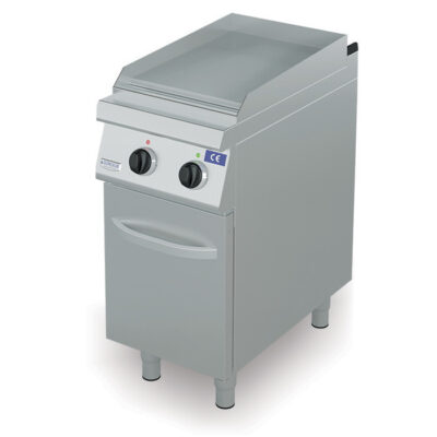 Fry top electric cu suprafata neteda si dulap, 400x730mm