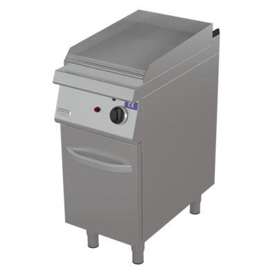 Fry top pe gaz cu suprafata neteda si dulap, 400x730mm