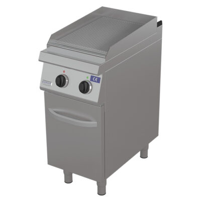 Fry top electric cu suprafata striata si dulap, 400x730mm
