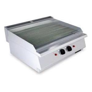 Fry top pe gaz cu suprafata striata, 400x730mm