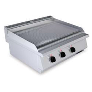 Fry top electric cu suprafata striata, 800x730mm