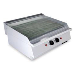 Fry top pe gaz cu suprafata striata, 800x730mm