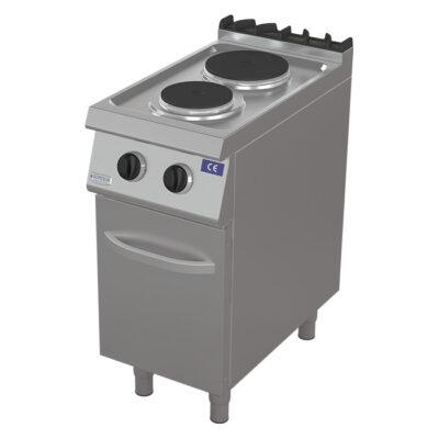 Masina de gatit electrica cu 2 plite si dulap, 400x730mm