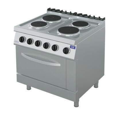 Masina de gatit electrica cu 4 plite si cuptor 2x GN2/1