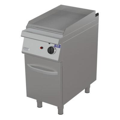 Fry top pe gaz cu suprafata neteda, 400x900mm