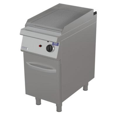 Fry top pe gaz cu suprafata striata, 400x900mm