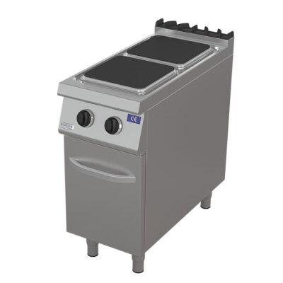 Masina de gatit electrica cu 2 plite patrate si dulap, 400x900mm