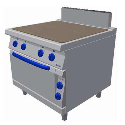 Masina de gatit electrica cu plita vitroceramica si cuptor electric GN2/1