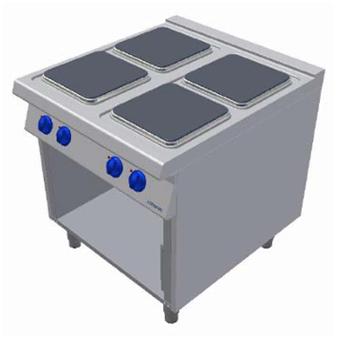 Masina de gatit electrica cu 4 plite si suport deschis, 800x900mm