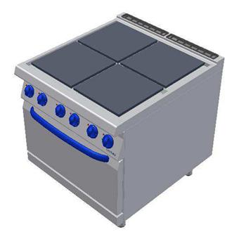 Masina de gatit electrica cu 4 plite si cuptor electric, 800x900mm
