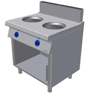 Masina de gatit cu inductie si suport deschis - tip WOK, 800x900mm