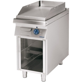 Fry top electric cu suprafata neteda si suport deschis, 400x900mm