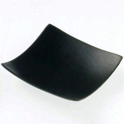 Farfurie patrata din bambus neagra, 60x60mm