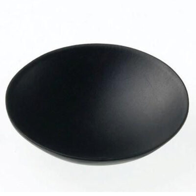 Farfurie rotunda din bambus neagra, 60mm