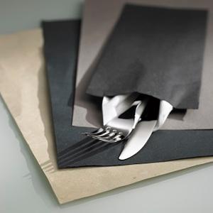 Suport tacamuri tip plic VENICE cu servetel, 380x380cm