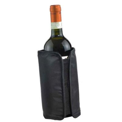 Husa neagra frigorifica pentru sticla vin