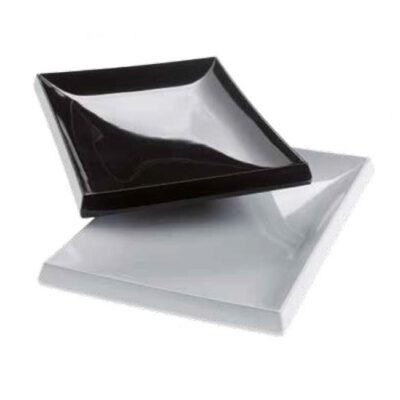 Farfurie alba RUBINO din melamina, 250x175x30mm