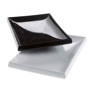 Farfurie neagra RUBINO din melamina, 250x175x30mm