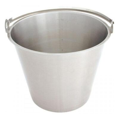 Galeata gradata din inox, 7 litri