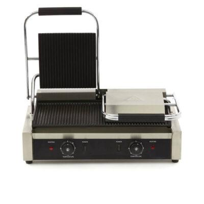 Toaster dublu cu mecanism prin apasare pe placi striate, 570x305mm
