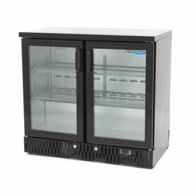 Vitrina frigorifica pentru bar cu 2 usi batante, 227 litri