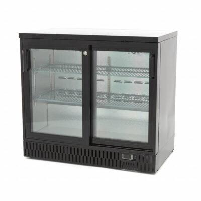 Vitrina frigorifica pentru bar cu 2 usi glisante, 227 litri