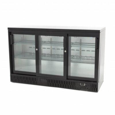 Vitrina frigorifica pentru bar cu 3 usi glisante, 341 litri