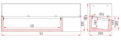 Vitrina frigorifica compartimentata, 5 cuve GN1/4