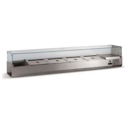 Vitrina frigorifica compartimentata 1500x330x400mm