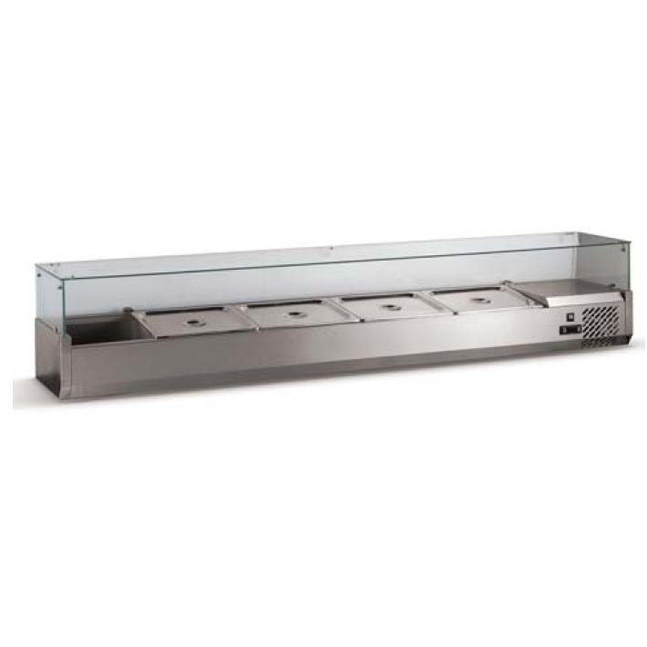 Vitrina frigorifica compartimentata 2000x380x400mm