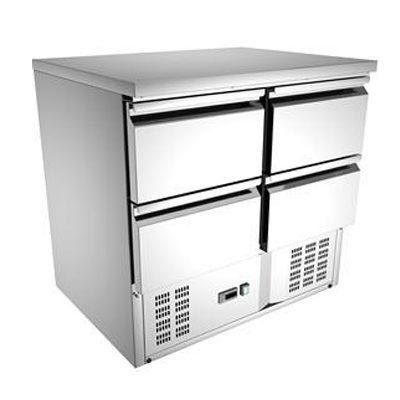 Masa frigorifica cu 4 sertare GN1/1, 900x700mm