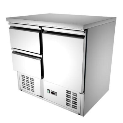 Masa frigorifica cu o usa si 2 sertare
