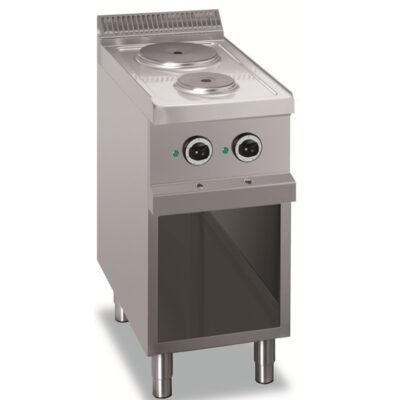 Masina de gatit electrica cu 2 plite rotunde, 400x700mm