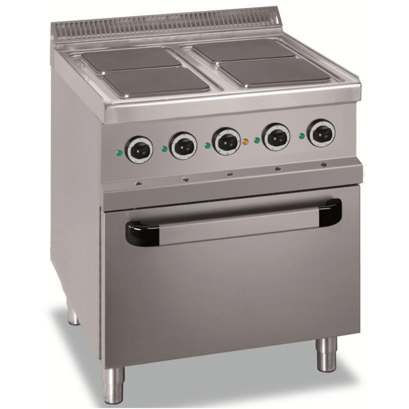 Masina de gatit electrica cu 4 plite patrate si cuptor, 700x700mm