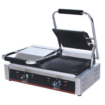 Toaster dublu cu mecanism prin apasare pe placi