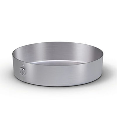 Tava rotunda aluminiu 280mm cu inele