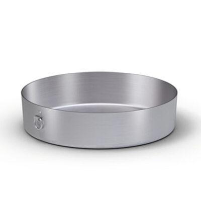 Tava rotunda aluminiu 400mm cu inele