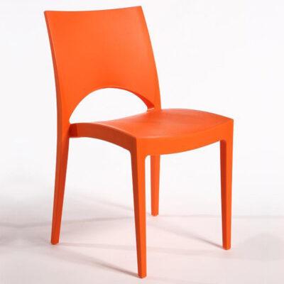 Scaun din polipropilena, portocaliu PARIS