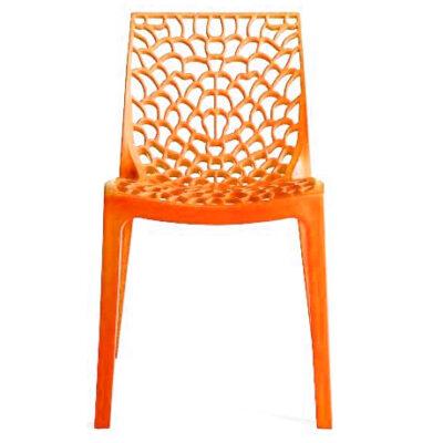 Scaun din polipropilena, portocaliu GRUVYER