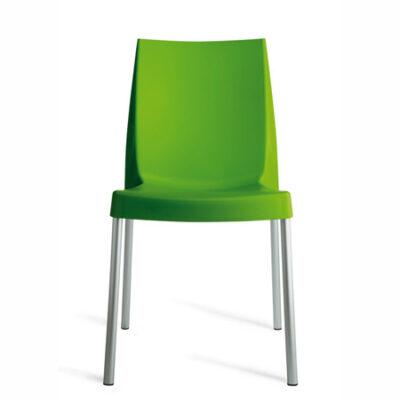 Scaun din polipropilena, verde BOULEVARD