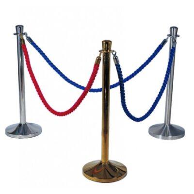 Cordon albastru pentru delimitare cu carlig inox