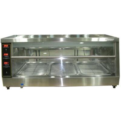 Vitrina calda expunere produse pui, 800x650mm
