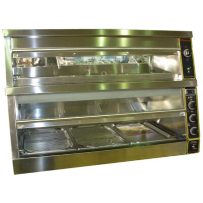 Vitrina calda expunere produse pui Model KFC, dubla, 1800x650mm